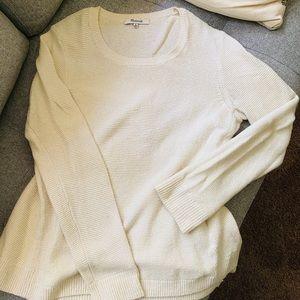 Madewell cream chunky knit sweater